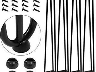 AECOJOY 28  Black Hairpin legs  1 2  Diameter  Set