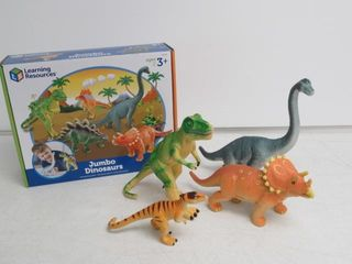 As Is  5 Piece learning Resources Jumbo Dinosaurs