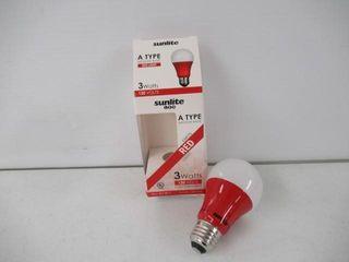 Sunlite A19 3W R lED 80148 Red lED A19 3 Watt
