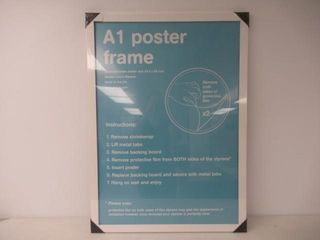 As Is  GB eye FMA1A1WH A1 Wooden Poster Frame
