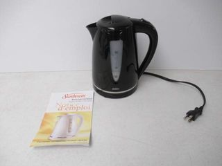 As Is  Sunbeam Canada 1 7l Electric Kettle  Black