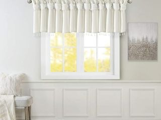 Emilia Faux Silk Valances for Windows with Beads ,