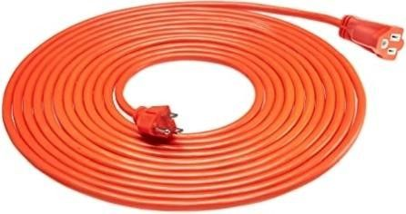16 3 Vinyl Outdoor Extension Cord  Orange  25