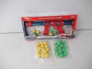 As Is  2 Pack Set Power Popper Gun with 40 Pcs