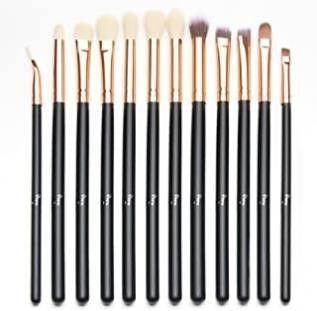 Qivange Eyeshadow Brushes  Vegan Cosmetic Eyebrow