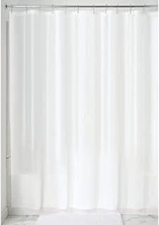 iDesign Waterproof PEVA Bathroom Shower Curtain