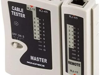 Monoprice RJ 11 and RJ 45 Modular Plug Tester
