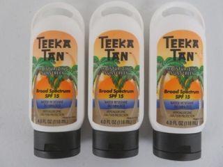 3  Teeka Tan SPF 15 Sunscreen  Hypoallergenic