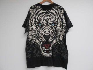 liquid Blue Men s Xl Graphic Tiger T Shirt  Black
