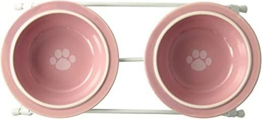 PetRageous Designs Toftee s Paws Feeder  Pink
