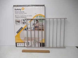 Used  Safety 1st Wide and Sturdy Sliding Gate