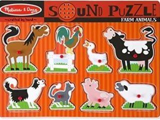 Melissa   Doug Farm Animals Sound Puzzle  Wooden