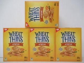 4  Christie Wheat Thins Original 200g