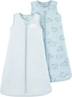 Carter s Baby Boys 2 Pack Cotton Sleepbag  Blue