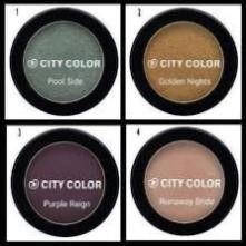 4  City Colour 3 2g Eyeshadows  Pool Side  Purple