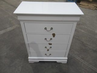 As Is  4 Drawer Chest In White