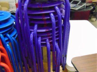 1 stack of 11 purple stools 14 x 18