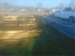 4 pallets of pallet racking  unassembled