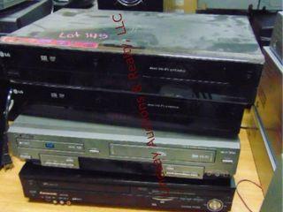 4 dvd vhs players