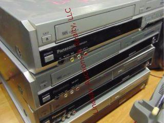 4 Panasonic VHS DVD players