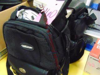 4 bags w  video cameras  cannon  panasonic