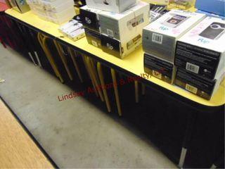 Yellow table w  6 stools 60 x 36 x 22