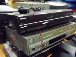 3 dvd vhs players   1 panasonic digital tuner