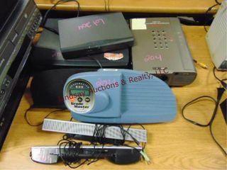 lot w  EIKI projector  Vhs player  TI present