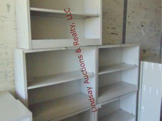5 metal shelving units 34 5  x 12 5  x 29