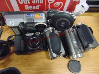 6 misc cameras  video   still  canon  sony FHD