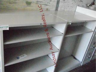 4 metal shelving units 34 5  x 12 5  x 47