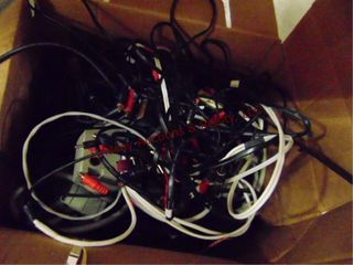 1 box of misc cords