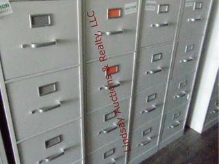 4 metal 4 drawer file cabinets 15  x 25  x 52