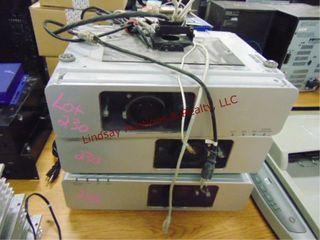 3 panasonic lCD projectors