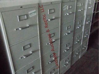 5 metal 4 drawer file cabinets 15  x 28 5  x 52