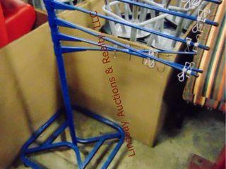 Rolling artwork drying rack