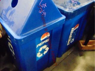 2 pepsi recycle containers 22 x 29  22 x 42