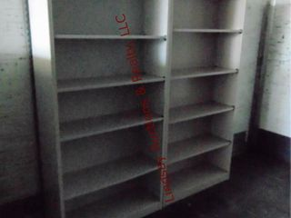 2 metal book cases 34 5  x 12 5  x 71