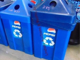 2 pepsi recycle containers 22 x 29  22 x 42 w