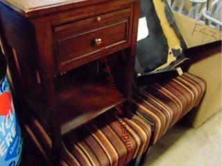 4 pcs of furniture  1 table w  drawer 19 x 18 x 27