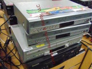 8 Dvd vhs players various brands