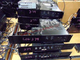 7 integrated amplifiers BG115 w  racks