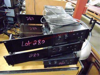 6 integrated amplifiers BG115 w  racks