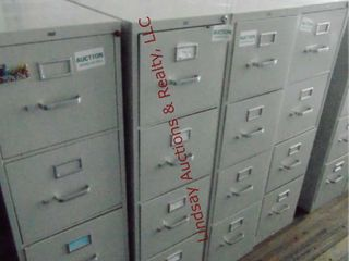 4 metal 4 drawer file cabinets 15  x 28 5  x 52