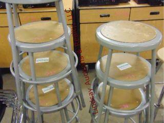 7 metal stools