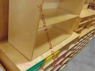 2 wooden shelves 1 w  cubes 36 c 15 x 27