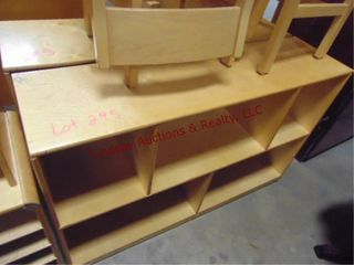 2 cubby shelves on wheels 47 x 13 x 30 5