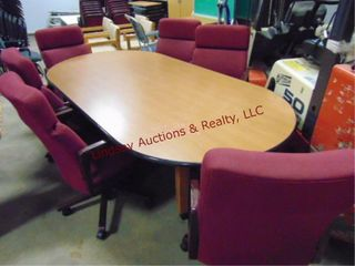 Conferenece table w  6 chairs 95x48x29