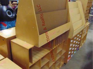 Cubby shelf   child craft 2 sided book rack