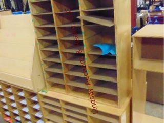 2 wood sorter shelves 30 x 12 x 41 5